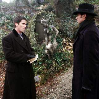 Christian Bale and Hugh Jackman in Touchstone Pictures' The Prestige (2006)