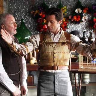 Michael Caine and Hugh Jackman in Touchstone Pictures' The Prestige (2006)