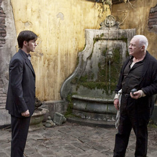Colin O'Donoghue stars as Michael Kovak and Anthony Hopkins stars as Father Lucas in Warner Bros. Pictures' The Rite (2011). Photo credit by Egon Endrenyi.