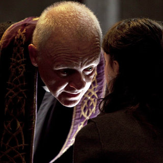 Anthony Hopkins stars as Father Lucas and Marta Gastini stars as Rosaria in Warner Bros. Pictures' The Rite (2011). Photo credit by Egon Endrenyi.