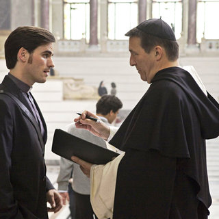 Colin O'Donoghue stars as Michael Kovak and Ciaran Hinds stars as Father Xavier in Warner Bros. Pictures' The Rite (2011). Photo credit by Egon Endrenyi.