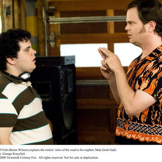 Josh Gad stars as Matt Gadman and Rainn Wilson stars as Robert 'Fish' Fishman in 20th Century Fox's The Rocker (2008). Photo credit by George Kraychyk. - the_rocker15