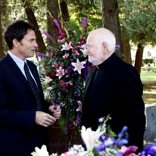 Tim Daly stars as Bryan Becket and Robert Prosky stars as Father Wymond in IFC Films' The Skeptic (2009)