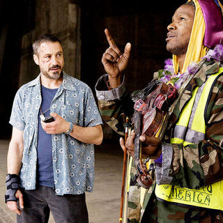 Soloist, The - Robert Downey Jr. stars as Steve Lopez and Jamie Foxx stars as Nathaniel Ayers in DreamWorks' The Soloist (2009)