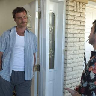 Liev Schreiber as Ray Johnson and Joe Lo Truglio as Paul Mardino in ThinkFilm's The Ten (2007)