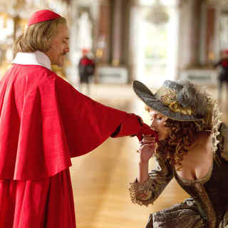 Christoph Waltz stars as Cardinal Richelieu and Milla Jovovich stars as M'lady De Winter in Summit Entertainment's The Three Musketeers (2011)