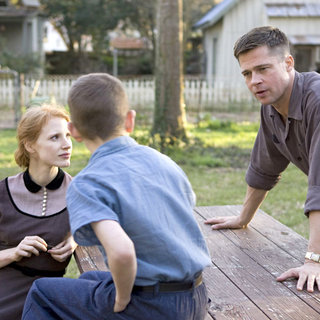 Brad Pitt stars as Mr. O'Brien and Jessica Chastain stars as Mrs. O'Brien in Fox Searchlight Pictures' The Tree of Life (2011)