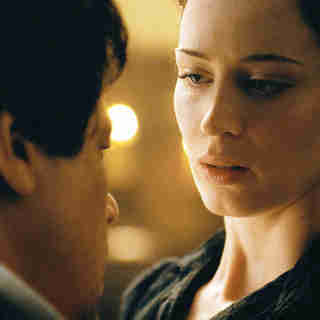 Benicio Del Toro stars as Lawrence Talbot and Emily Blunt stars as Gwen Conliffe in Universal Pictures' The Wolfman (2009)