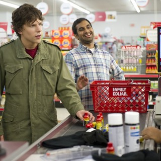 Jesse Eisenberg stars as Nick and Aziz Ansari stars as Chet in Columbia Pictures' 30 Minutes or Less (2011) - thirty-minutes-or-less03