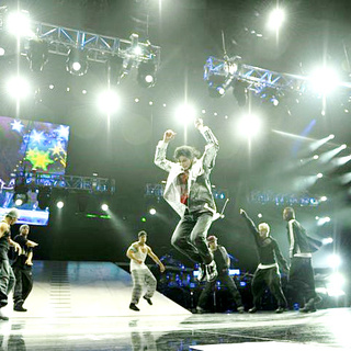 Michael Jackson in Sony Pictures Entertainment's This Is It (2009). Photo credit by Kevin Mazur.