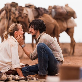 Mia Wasikowska stars as Robyn Davidson and Adam Driver stars as Rick Smolan in The Weinstein Company's Tracks (2014)
