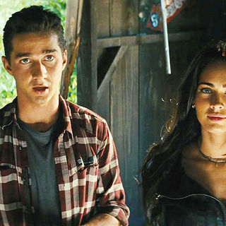 Transformers: Revenge of the Fallen - Shia LaBeouf stars as Sam Witwicky and Megan Fox stars as Mikaela Banes in DreamWorks SKG's Transformers: Revenge of the Fallen (2009)