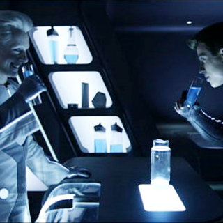 Michael Sheen stars as Castor and Garrett Hedlund stars as Sam Flynn in Walt Disney Pictures' Tron Legacy (2010)