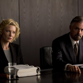 Truth - Cate Blanchett stars as Mary Mapes and Andrew McFarlane stars as Dick Hibey in Sony Pictures Classics' Truth (2015)