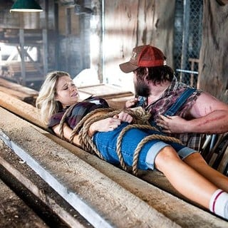 Katrina Bowden stars as Allison and Tyler Labine stars as Dale in Magnolia Pictures' Tucker & Dale vs Evil (2011)