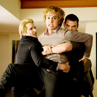 Twilight Saga's New Moon, The - Peter Facinelli, Jackson Rathbone and Kellan Lutz in Summit Entertainment's The Twilight Saga's New Moon (2009)