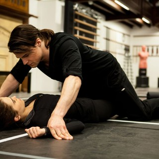 Zoey Deutch stars as Rose Hathaway and Danila Kozlovsky stars as Dimitri Belikov in The Weinstein Company's Vampire Academy (2014). Photo credit by Laurie Sparham. - vampire-academy08