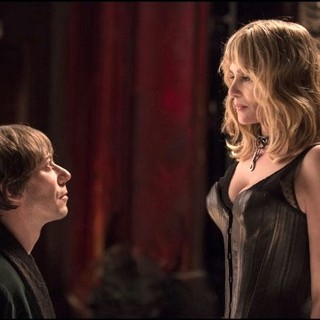 Mathieu Amalric stars as Thomas and Emmanuelle Seigner stars as Vanda in Sundance Selects' Venus in Fur (2014)
