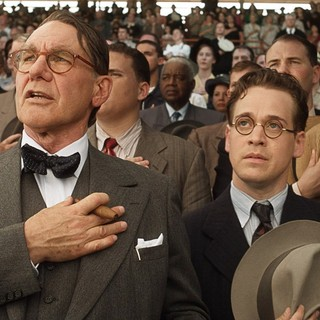 Harrison Ford stars as Branch Rickey and T.R. Knight stars as Harold Parrott in Warner Bros. Pictures' 42 (2013) - warner-42-07