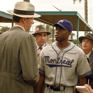 Chadwick Boseman stars as Jackie Robinson in Warner Bros. Pictures' 42 (2013) - warner-bros-42-01