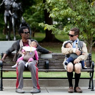 Chris Rock stars as Vic and Thomas Lennon	 stars as Craig in Lionsgate Films' What to Expect When You're Expecting (2012). Photo credit by Melissa Moseley.