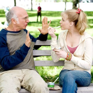 Larry David stars as Boris Yellnikoff and Evan Rachel Wood stars as Melodie St. Ann Celestine in Sony Pictures Classics' Whatever Works (2009). Photo credit by Jessica Miglio. - whatever_works09