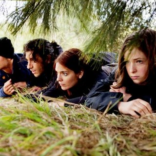 Lincoln Lewis, Deniz Akdeniz, Caitlin Stasey and Ashleigh Cummings in Freestyle Digital Media's Tomorrow, When the War Began (2012)