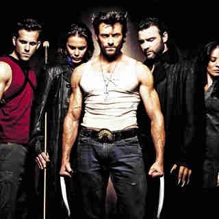 Ryan Reynolds, Taylor Kitsch, Hugh Jackman, Liev Schreiber and Lynn Collins in The 20th Century Fox Pictures' X-Men Origins: Wolverine (2009)