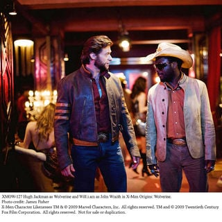X-Men Origins: Wolverine - Hugh Jackman stars as Logan/Wolverine and will.i.am stars as John Wraith in The 20th Century Fox Pictures' X-Men Origins: Wolverine (2009). Photo credit by James Fisher.