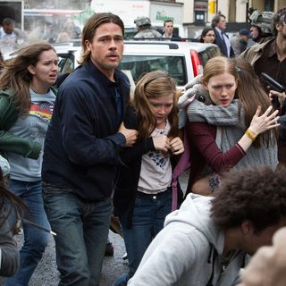 Brad Pitt, Abigail Hargrove and Mireille Enos in Paramount Pictures' World War Z (2013)