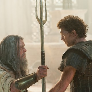 Danny Huston stars as Poseidon and Sam Worthington stars as Perseus in Warner Bros. Pictures' Wrath of the Titans (2012) - wrath-of-the-titans-wbp05