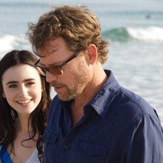 Lily Collins stars as Samantha Borgens and Greg Kinnear stars as William Borgens in Millennium Entertainment's Stuck in Love (2013) - writers02