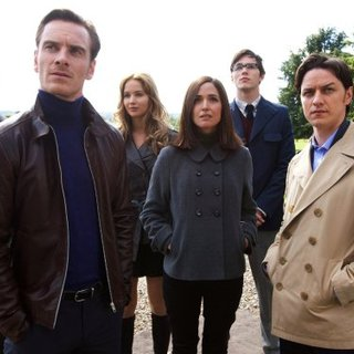 Michael Fassbender, James McAvoy and Rose Byrne in 20th Century Fox's X-Men: First Class (2011)