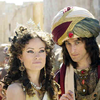 Year One - Olivia Wilde stars as Princess Inanna and David Pasquesi stars as Prime Minister in Columbia Pictures' Year One (2009)