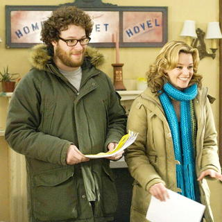 Seth Rogen stars as Zack and Elizabeth Banks stars as Miri in The Weinstein Company's Zack and Miri Make a Porno (2008)