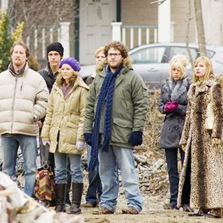Jeff Anderson, Jason Mewes, Elizabeth Banks, Ricky Mabe, Seth Rogen, Katie Morgan, Traci Lords and Craig Robinson in The Weinstein Company's Zack and Miri Make a Porno (2008)