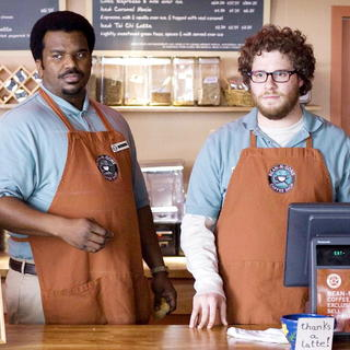 Craig Robinson stars as Delaney and Seth Rogen stars as Zack in The Weinstein Company's Zack and Miri Make a Porno (2008)