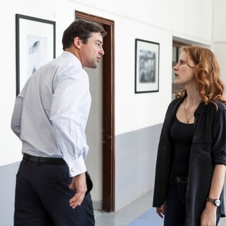 Kyle Chandler stars as Joseph Bradley and Jessica Chastain stars as Maya in Columbia Pictures' Zero Dark Thirty (2012)