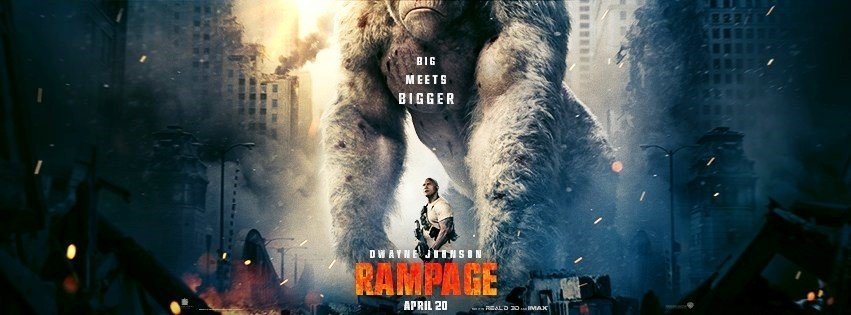 Poster of Warner Bros. Pictures' Rampage (2018)