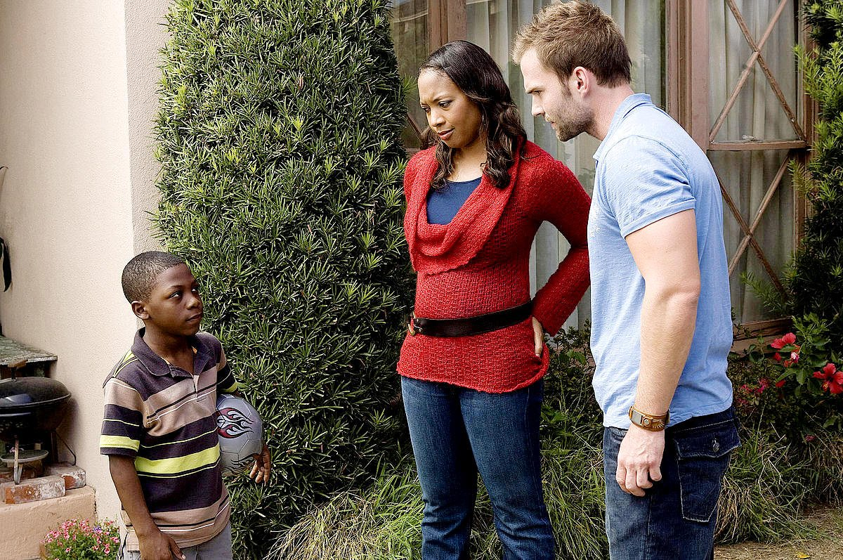 Bobb'e J. Thompson, Nicole Randall Johnson and Seann William Scott in Universal Pictures' Role Models (2008)