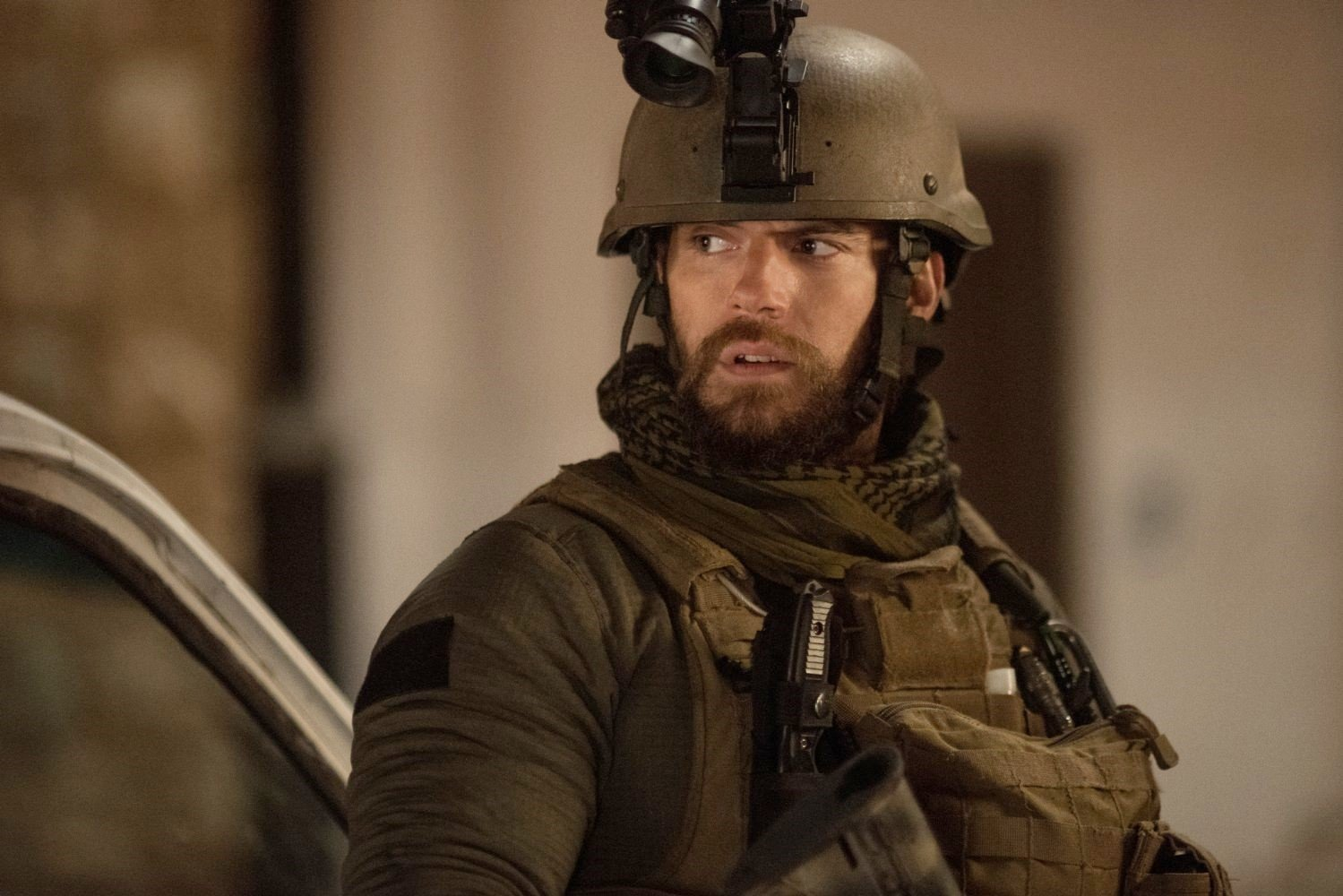 Henry Cavill stars as Captain Syverson in Netflix's Sand Castle (2017)