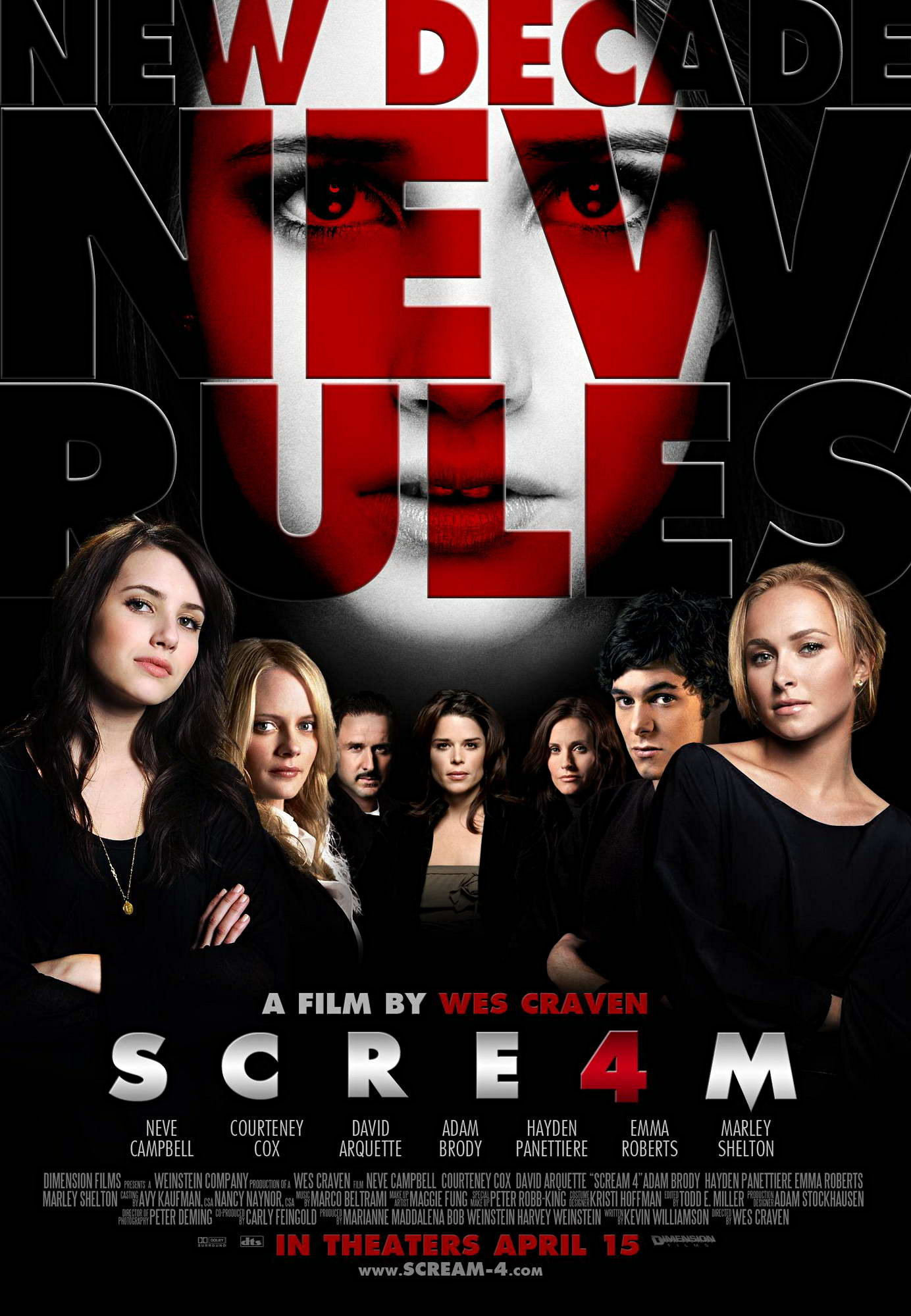 Poster of Dimension Films' Scream 4 (2011)