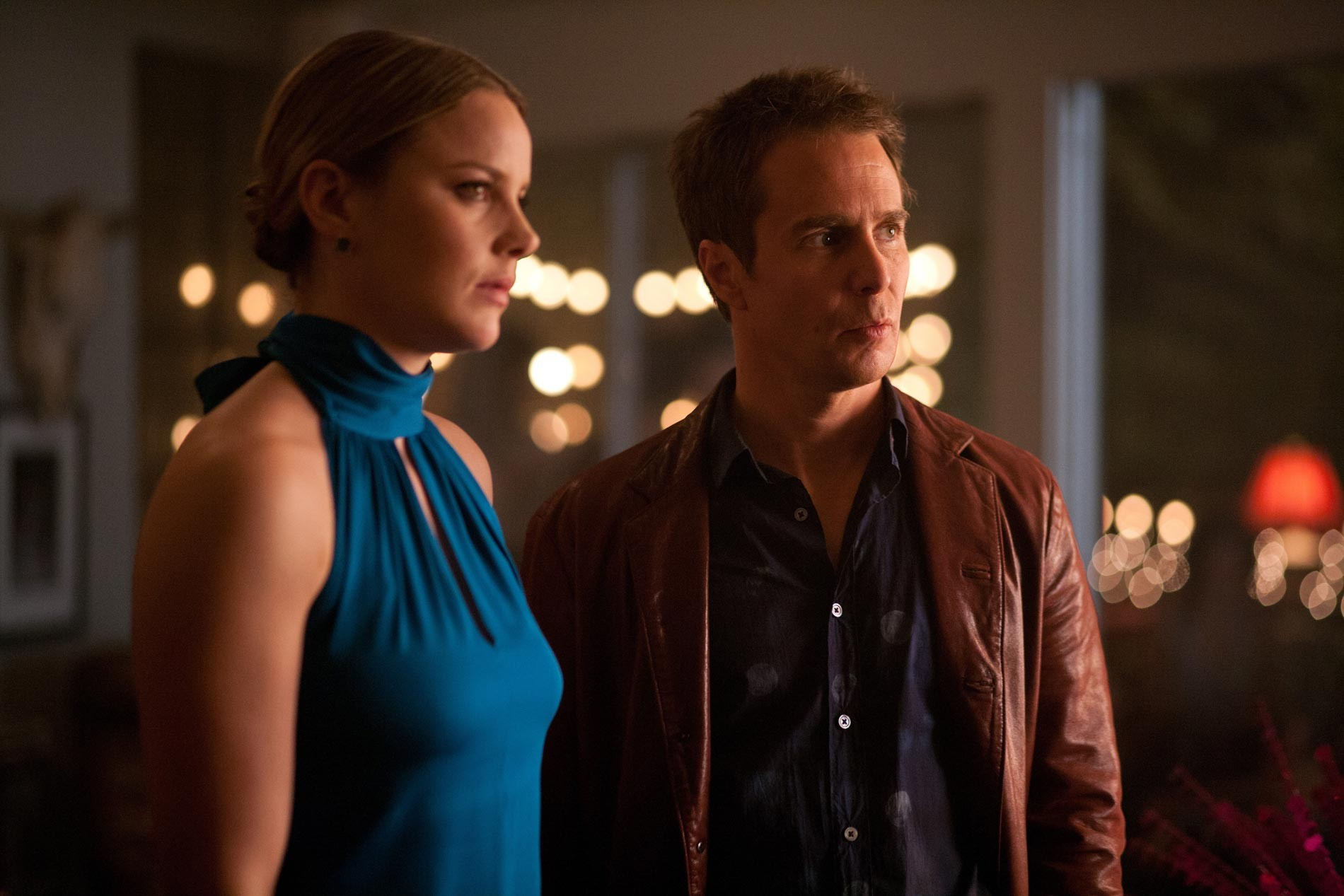 Abbie Cornish stars as Kaya and Sam Rockwell stars as Billy in CBS Films' Seven Psychopaths (2012)