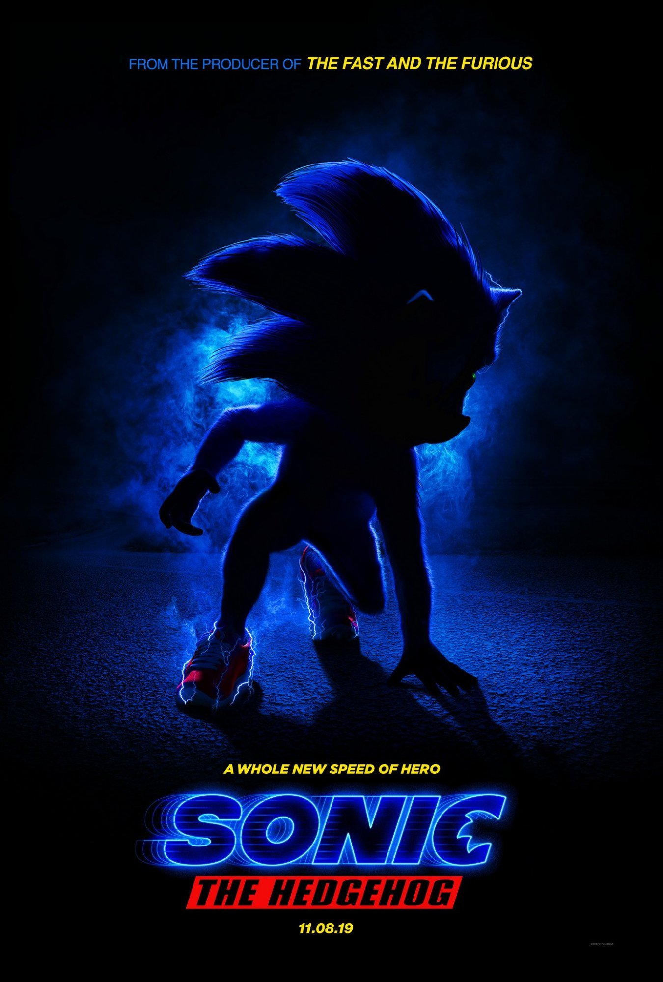 Poster of Paramount Pictures' Sonic the Hedgehog (2020)