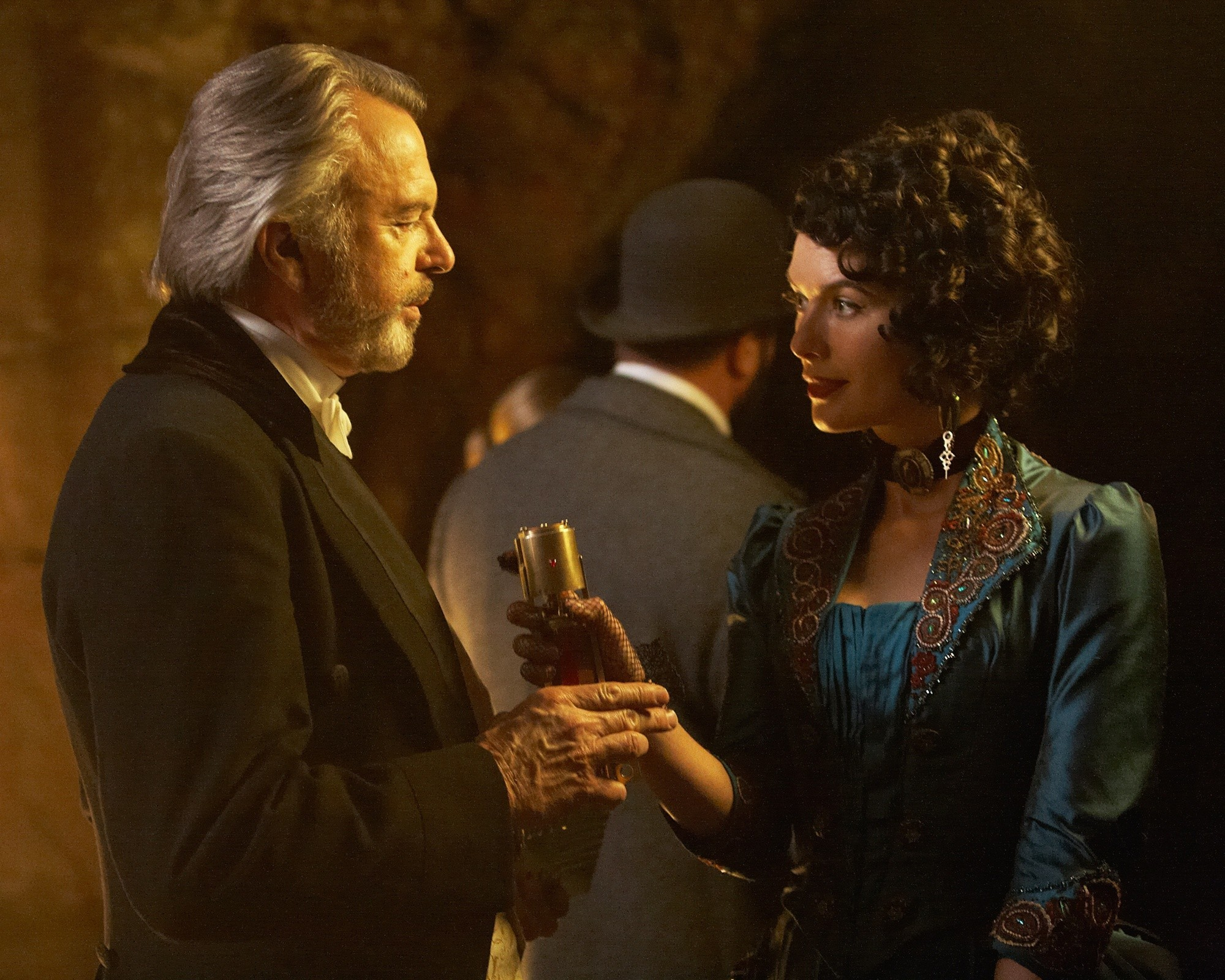 Sam Neill stars as Otto Luger and Lena Headey stars as Monica in Image Entertainment's The Adventurer: The Curse of the Midas Box (2014)