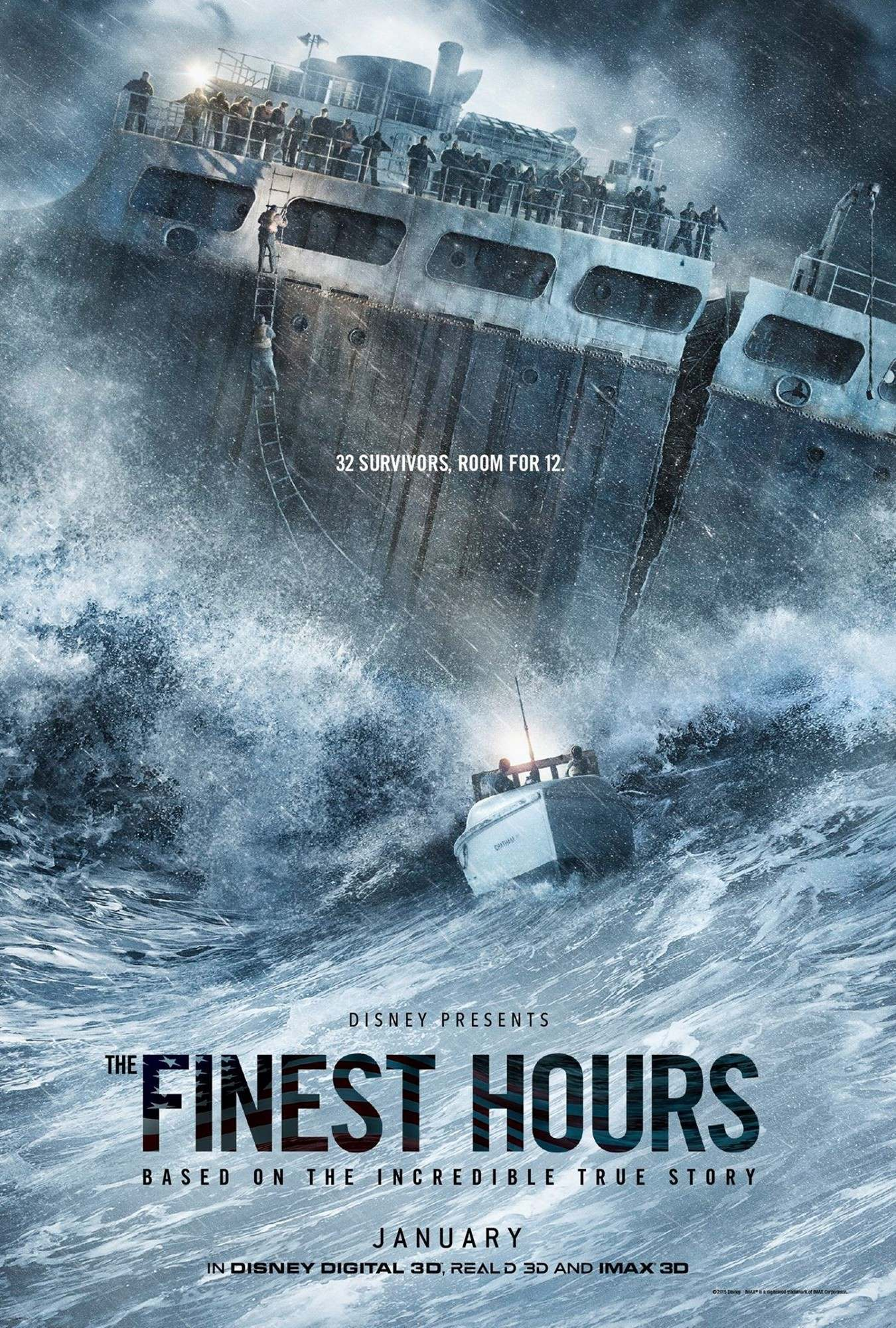 Poster of Walt Disney Pictures' The Finest Hours (2016)