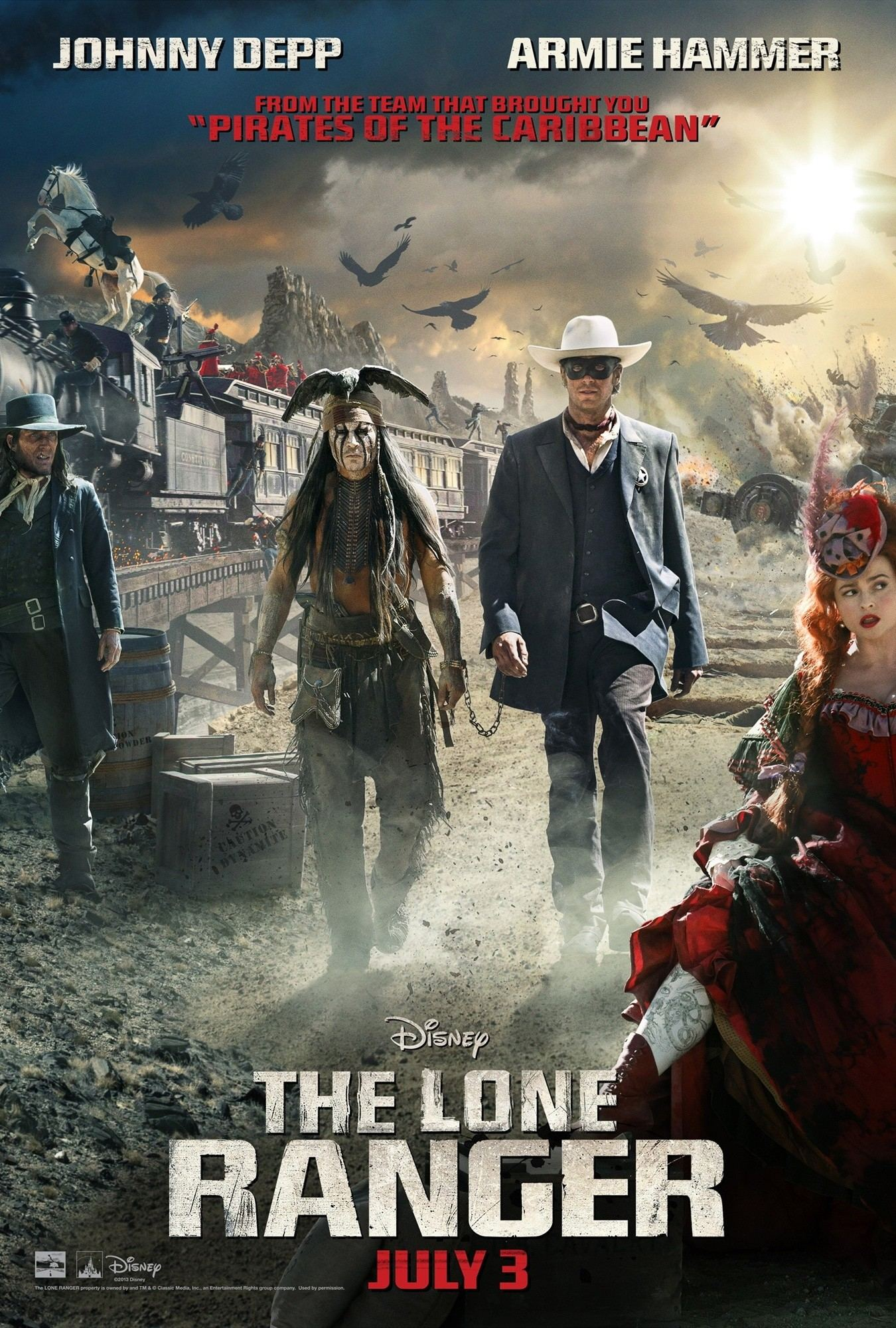 Poster of Walt Disney Pictures' The Lone Ranger (2013)