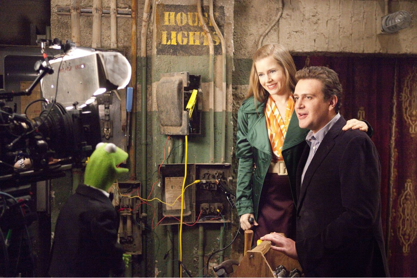 Amy Adams stars as and Mary and Jason Segel stars as Gary in Walt Disney Pictures' The Muppets (2011)