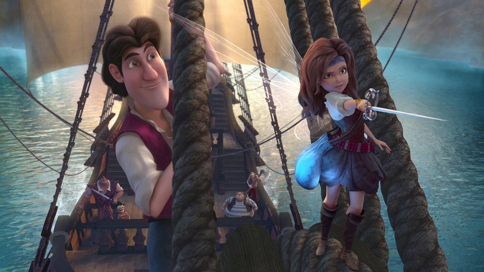 Captain James Hook and Zarina from Walt Disney Pictures' The Pirate Fairy (2014)