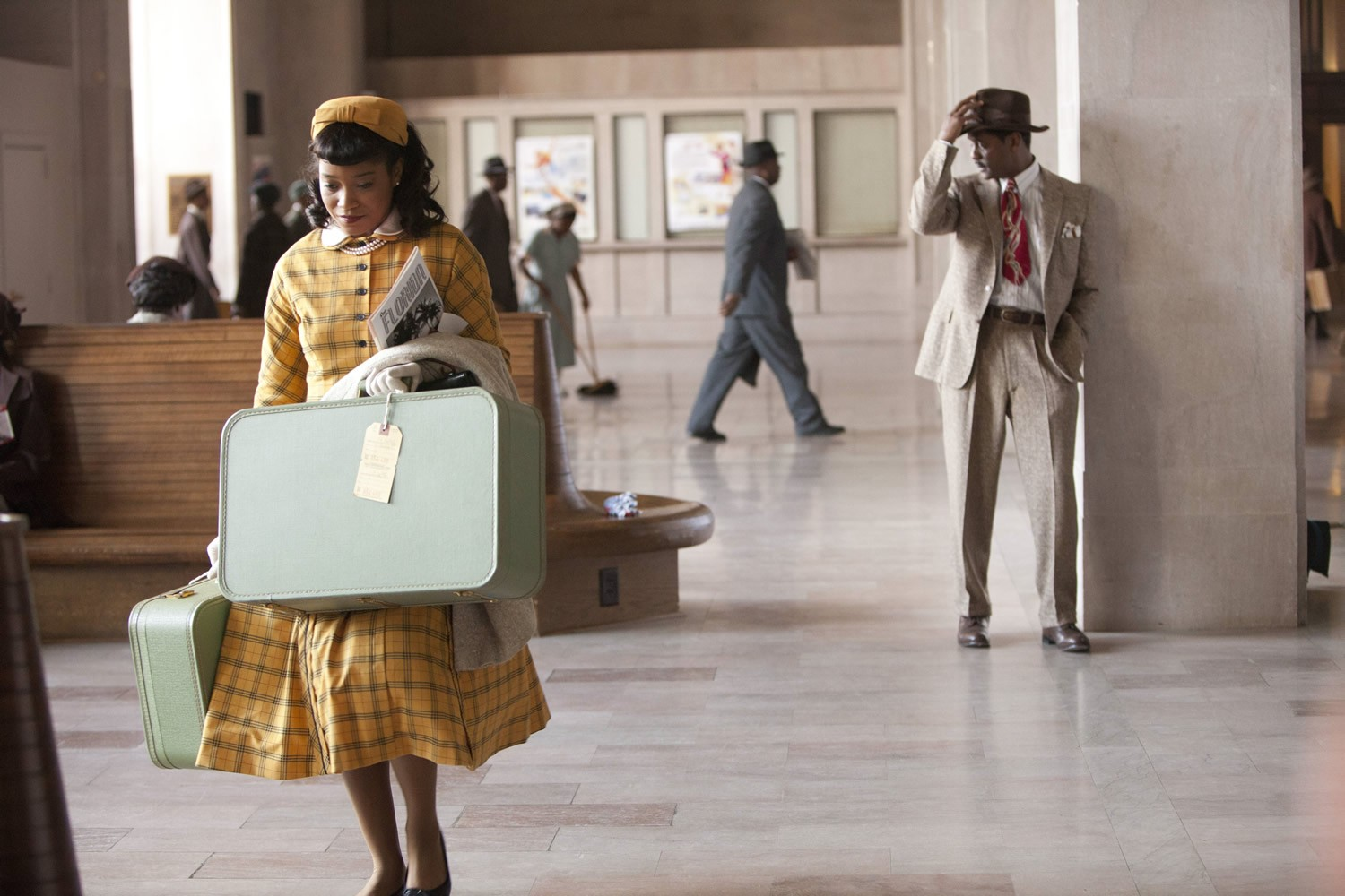 Keke Palmer stars as Thelma and Blair Underwood stars as Ludie Watts in Lifetime's The Trip to Bountiful (2014). Photo credit by Annette Brown.